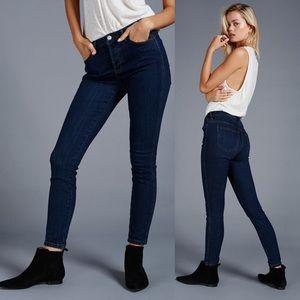 Free People High Waist Dark Wash Jeans